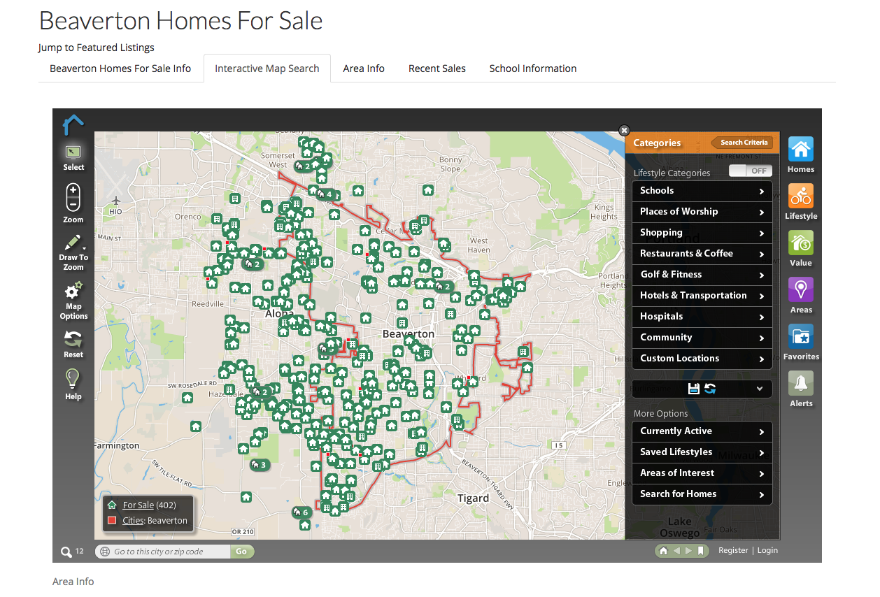 Advanced Map Search Functions- Custom Real Estate Websites