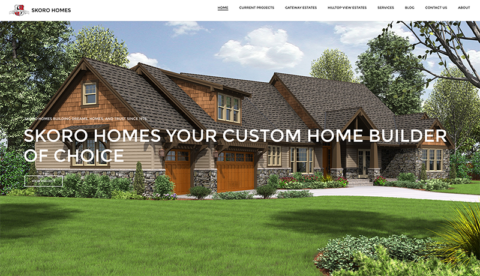 A Custom Build WordPress Beautiful Site For Skoro Homes To Display All Of Their Home Designs Floor Planore