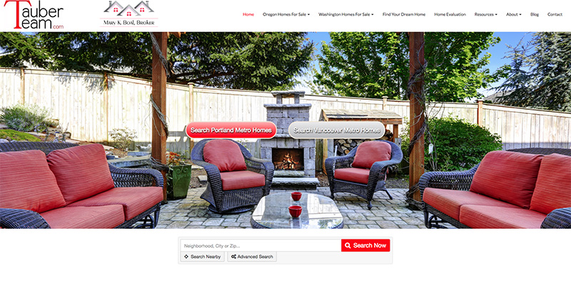 Custom Designed Real Estate Website