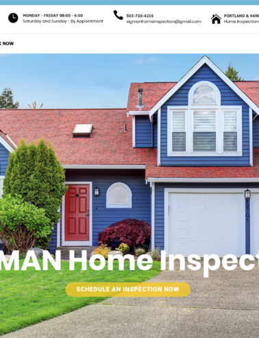 Home Inspector Web Design