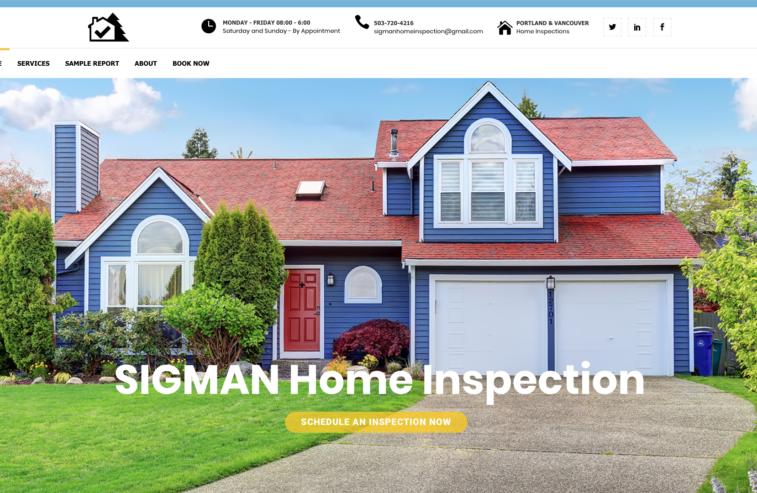 Home Inspector Web Design